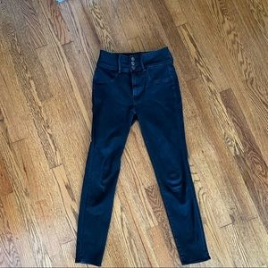 American eagle washed black super hi rise Jeggings